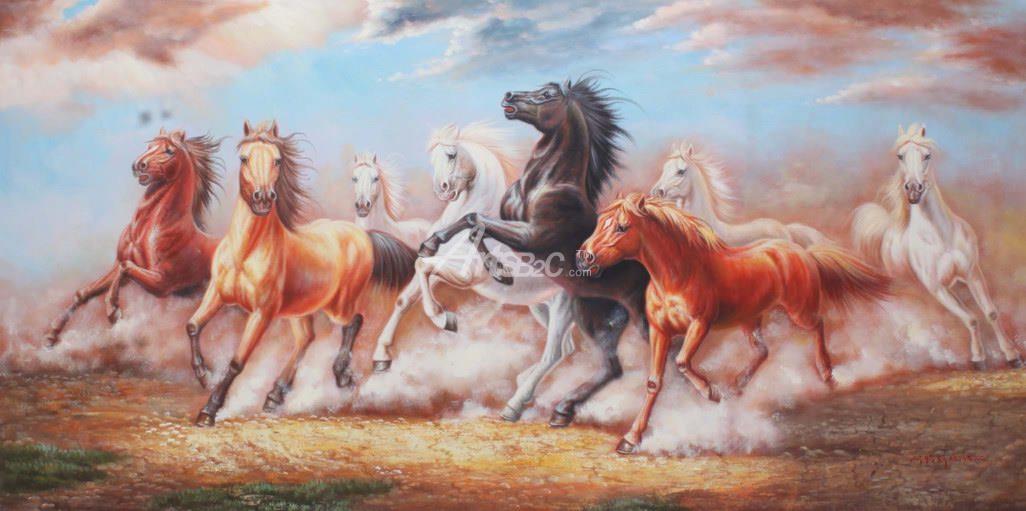 动物油画 大堂装饰画