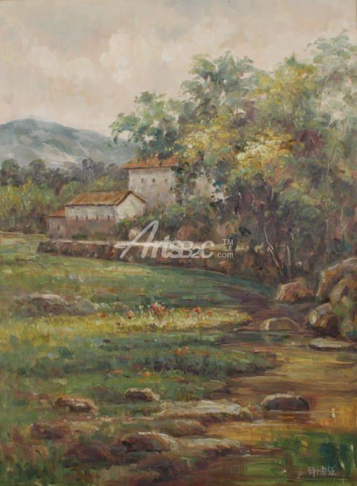 油画 中国风格油画 乡村田园油画  标记: 原创油画,风景油画详情 >>