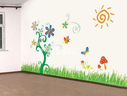 幼儿园墙绘艺术 大自然风景