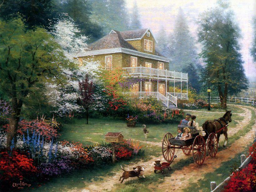 美式田园自然风景桌面壁纸