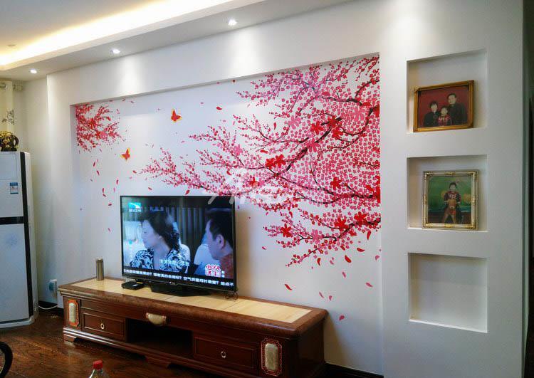电视背景墙墙绘 17图