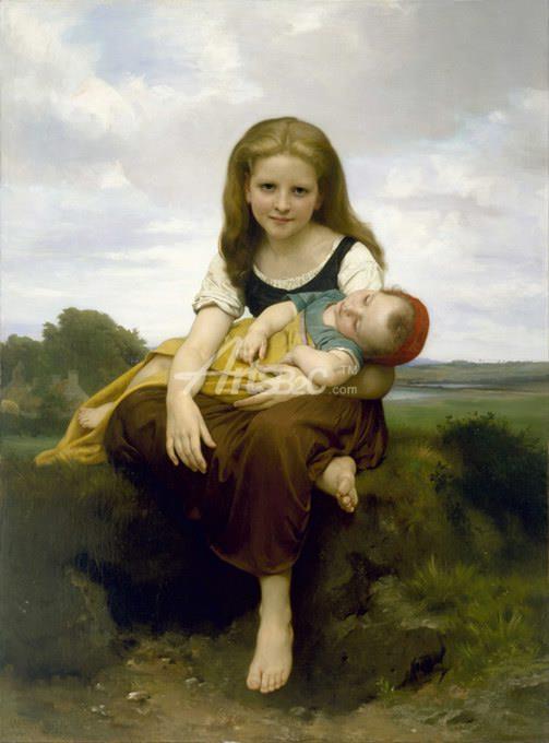 油画 欧式风格油画 人物油画 布格罗写实人物油画