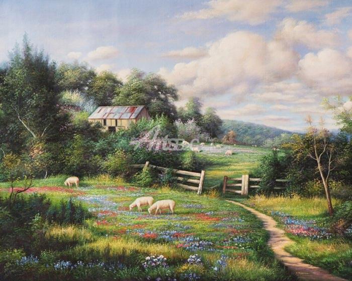 写实风景油画