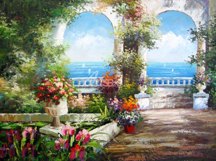 美式油画 - 餐厅油画田园风格