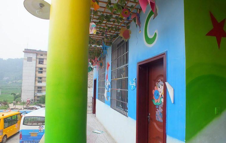 幼儿园墙绘 壁柱