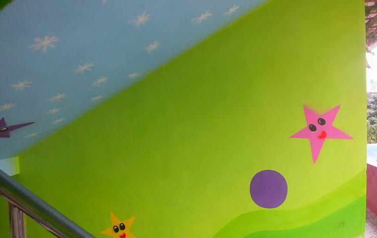 幼儿园墙绘 楼梯走廊