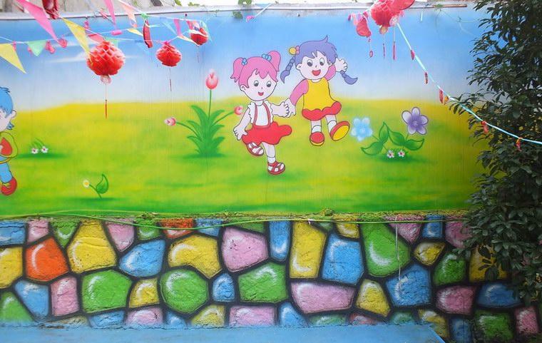 幼儿园墙绘 舞蹈间