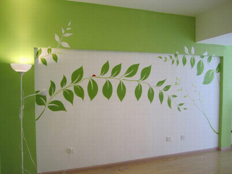 电视背景墙墙绘-手绘电视背景墙价格-电视背景墙彩绘