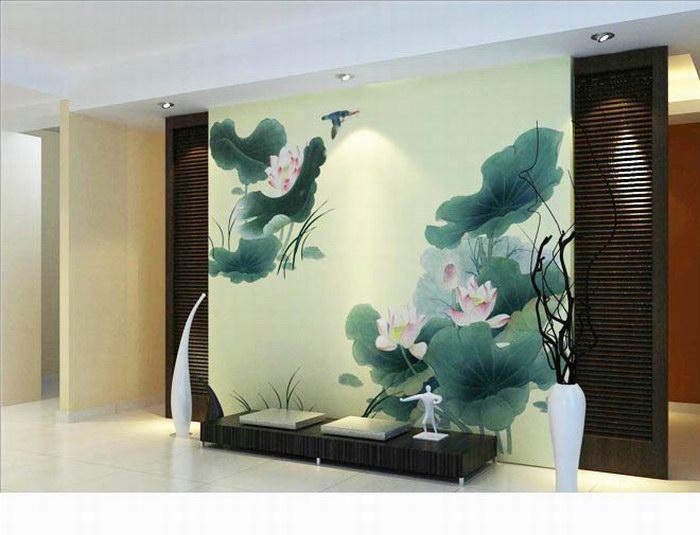 中式墙绘-中式墙绘价格-中式手绘墙图片 墙绘素材