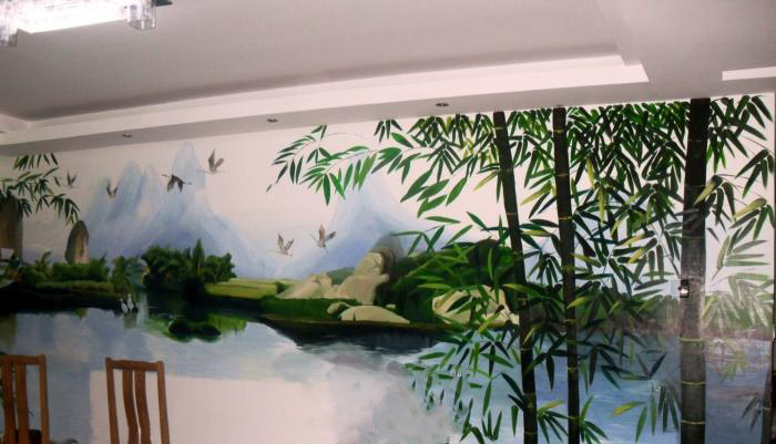 格-中式手绘墙图片